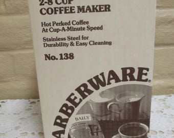 Farberware Superfast Stainless 8-Cup Coffee Pot - Vintage Percolator