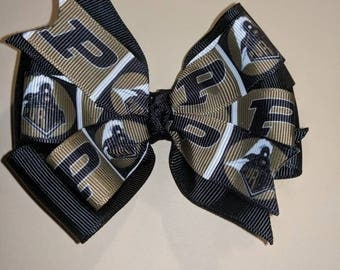 Super Cute Purdue Boilermakers Hair Bow