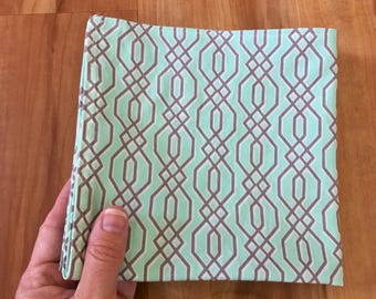 Napkins Dinner Lunch Turquoise Gray Geometric Set of 4
