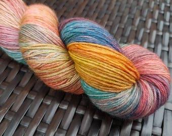 Salamagundie: 100g hand dyed merino/nylon sock yarn