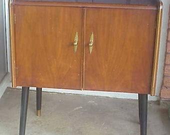 Mid Century Petite Record Cabinet