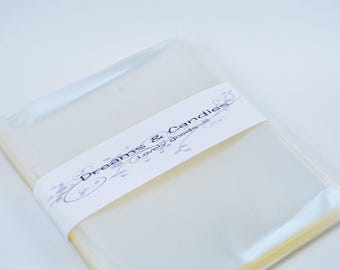 """150 Clear Cello Bags 4 5/8x5 3/4"""" -Transparent Cello Bags -Food Safe Cello Bags -Clear Cellophane Bags -Food Safe Bags"""