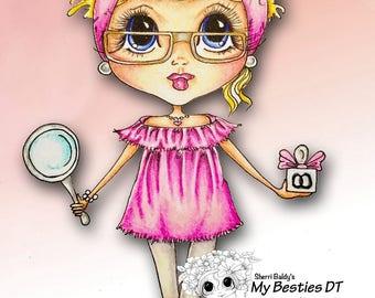 INSTANT DOWNLOAD Digital Digi Stamps Big Eye Big Head Dolls Bestie New Bestie Glam Girl img608 Bestie My Besties By Sherri Baldy