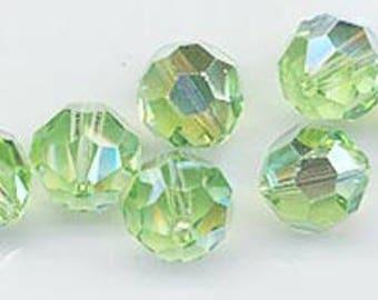 "Twelve ""out of program""  Swarovski crystals - Art. 5000 - 10 mm - peridot AB"