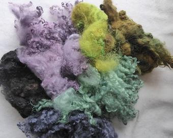 Great British hand dyed felting fleece pack - 100g - Bag 68