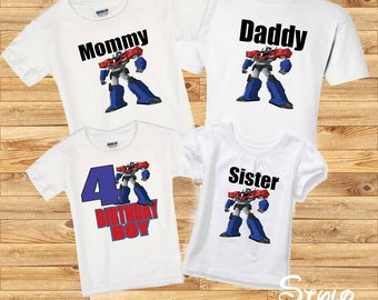 Transformers Family shirts, birthday boy transformers, birthday boy shirt, family transformers, family shirts, birthday party, transformers