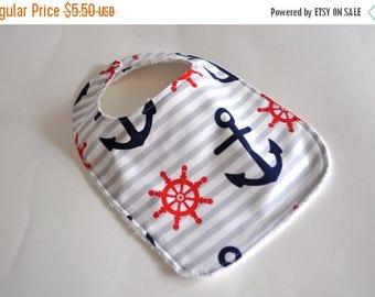 ON SALE Baby bib, Anchor baby bib, Nautical Baby bib,  anchor bib, nautical bib, pirate bib, boat bib, boat baby bib, Baby gift for new mom