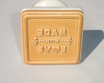 Ceramic 'Made With Love' Cookie Press