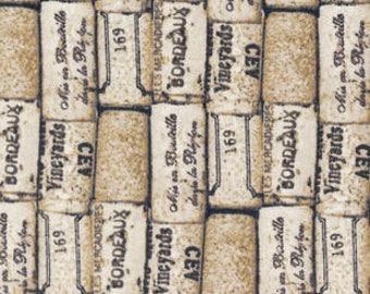 Snuggle Flannel Fabric - Wine Corks - 23 inches