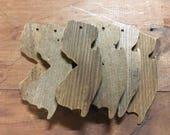 "reclaimed cedar ornament from ""the shack"""