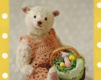 Cherry,miniature teddy bear artist by Junko Fujinami