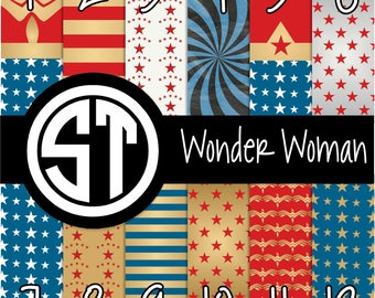 Wonder Woman prints printed vinyl or heat transfer vinyl (iron on) in 6x6, 8.5x11, 12x12, 12x24 and 12x36