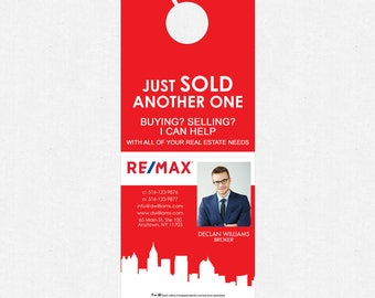"""3.5""""x8.5"""" real estate door hangers - FREE design and UPS ground shipping"""