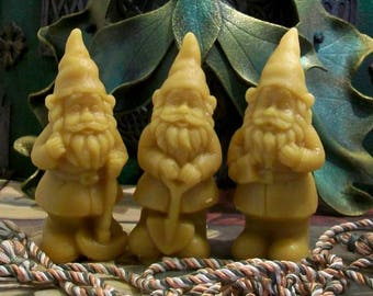 Woodland Gnome Beeswax Candle Choice Of Style
