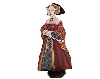Jane Seymour  Hand Painted 2D Art Figurine