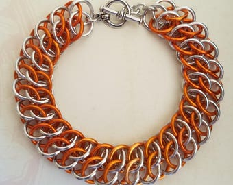 Dreamsicle Bracelet Chain Maille Aluminum Jewelry
