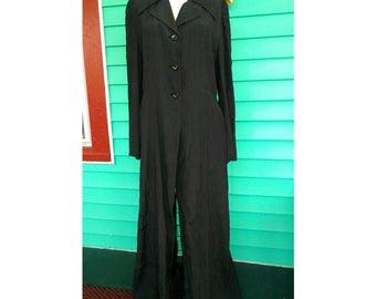 Beatiful Vintage 1990s Atsuro Tayama Long Backless Frock Coat Sheath Dress