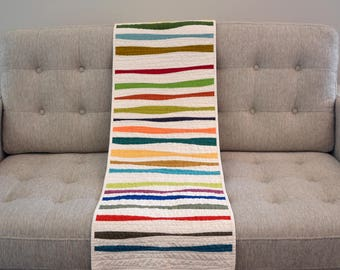 Modern Table Runner, Stripe Table Runner, Stripe Table Decor, Table Linens,  Stripes