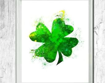 Shamrock print, shamrock art, St. Patrick Day, Irish Art print, Proud to be Irish, Irish Pride, Instant download, printable art, printable