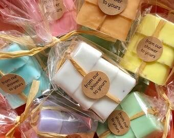 Soap Favors Set of 3 - Baby Shower Favors - Wedding Favors - Bridal Shower Favors - Personalized Favors - Soap Favors