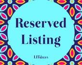 Reserved Listing for Marika