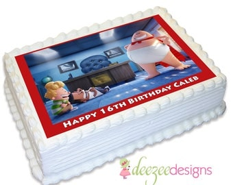 Captain Underpants A4 Edible Icing Cake Topper - EI165A4