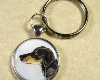 Doberman Pinscher Keychain, Doberman Key Chain, Doberman Keyring, Doberman Key Ring, Doberman Gifts, Doberman Mens Gifts, Dobie Gifts