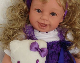 "Reborn 22"" Toddler Girl doll ""Amethyst"" -Gem Girl! Made to order -2 weeks"