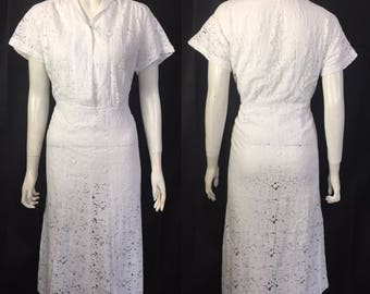 1930s white lace dress