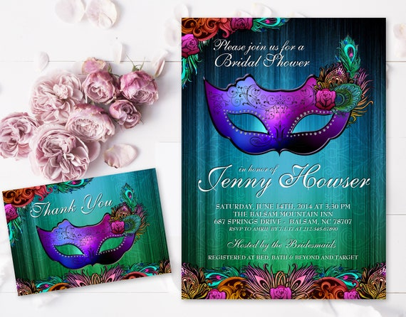 wedding chic peacock feather bridal invitations shower design media card invitation chalkboard