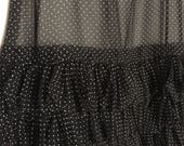 Vintage 70s sheer polka dot maxi skirt- major Chanel Vibes - Size Small
