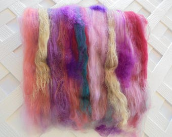 Spinning Batts, DESERT IN BLOOM, Soft Textured Art Batts to Spin, Art Batts to Felt, Luxury Art Batts, Soft Art Batts, Nuno Felting, Weaving