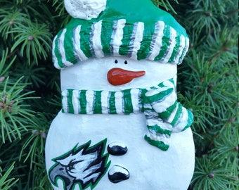 NFL or NBA Sports Snowman Ornament