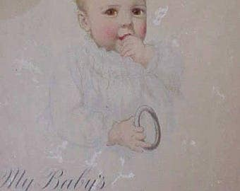 "Adorable Baby Book Dated ""1916""-Never Used-Beautifully Illustrated"