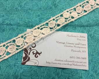 Ivory Venise, 1 yard of 1 inch Ivory Venise Lace trim for wedding, bridal, scrapbooking, jewelry, couture by MarlenesAttic - Item CC66