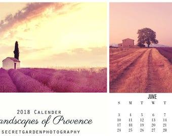Provence 2018 Photo Calendar, Landscape, Nature, Travel Photography, Wall Calendar, Paper Goods, Stationary, 2018 Calendar, Calender