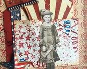 America~~~  Primitive Paper Doll~~~ Celebrate the USA~~~