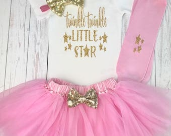 Twinkle Twinkle Little Star First Birthday Outfit, First Birthday Outfit Girl, 1st Birthday Outfit, 1st Birthday Girl, First Birthday Girl