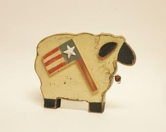 Primitive Americana Sheep, Wood Sheep, Country Farmhouse Decor