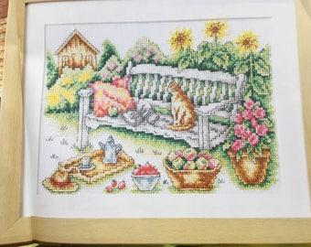 GARDEN BENCH - Cross Stitch Pattern Only