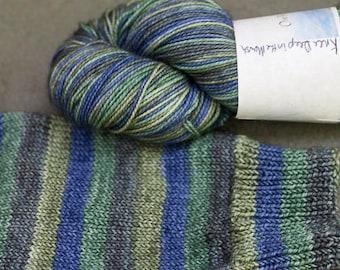 Self Striping Sock Yarn, Knee Deep in the Marsh Colorway