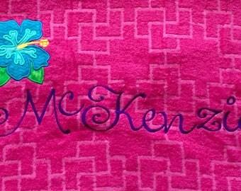 Personalized Applique Beach Towels