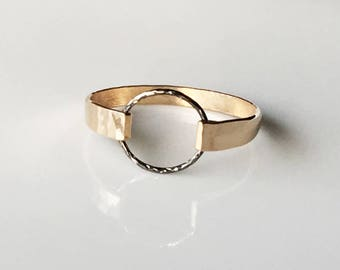 Stacking Rings - Heavy Gauge Hammered Gold Filled Ring - Gold Ring - Stackable Rings - Wedding Band