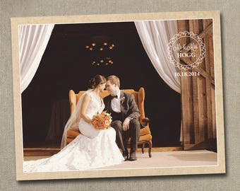 Wedding Thank You Photo Postcards Postcard Cards Card Note Notes Magnets Magnet rustic vintage western country shabby chic sepia old style