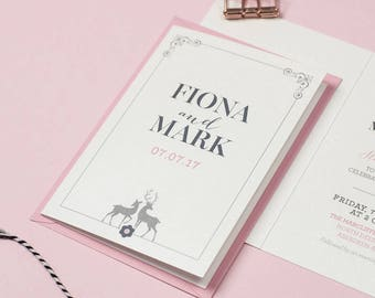Wedding Invitation Suite - 'Stag' Wedding Stationery Invitation Set - Custom Invitation - Wedding Invitations - Invitations