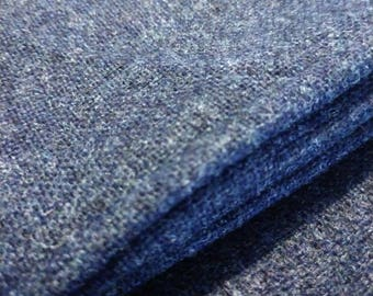 """Navy Heather Wool Suiting Fabric 34"""" x 56"""""""