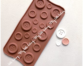 Button shape silicone mold