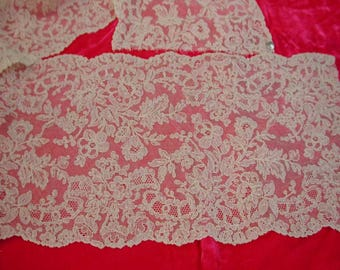 "No. 100 Exquisite Antique French Alencon Lace Fabric; 8 yds x 6.5"" (SPLITS to 16 YARDS)"
