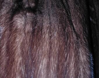 No. 700 Dismantled Full Length Mink Coat; Dark Brown; Teddy Bear Useage