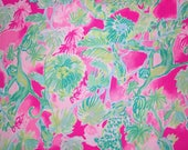 CATTY SHACK  print Spring 2018  cotton dobby 6 X 6,  9 X 18 inches or 18 X 18 inches  ~Authentic Lilly Pulitzer fabric~